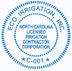 NC Licensed Irrigation Contractor Corporation Seal